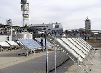 Planta de descontaminación de aguas en la PSA.