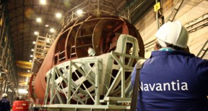 Construcción de un submarino en Navantia.