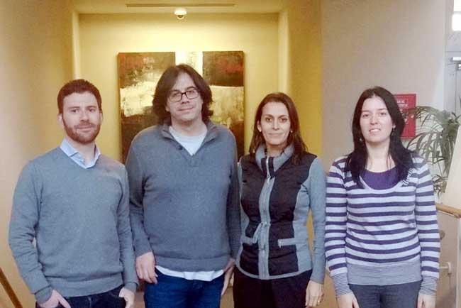 Juan Gómez, Javier Valls, María José Martín y María Dolore Ruiz, investigadores de la UGR.
