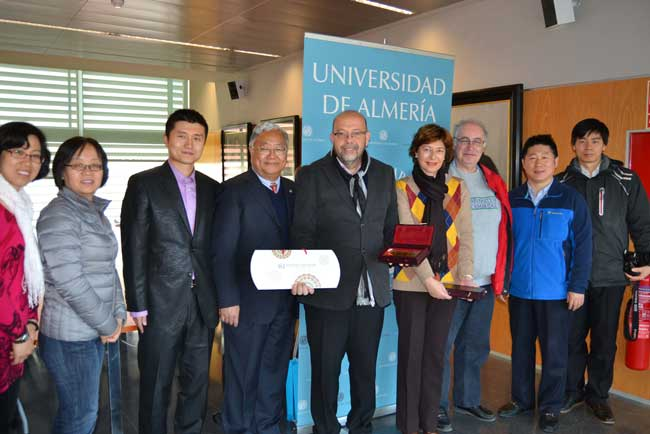 Integrantes de la universidad china en la UAL.