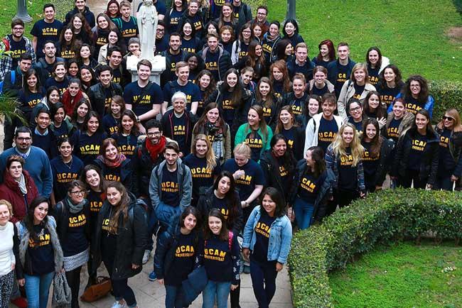 Alumnos internacionales de la UCAM.