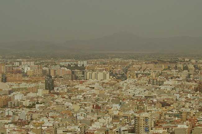 Nube de polvo sahariano sobre Alicante