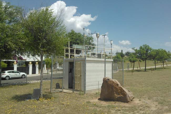 Estación de seguimiento de la calidad del aire.