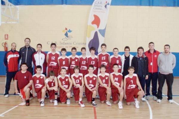 Selección Alevín de baloncesto de la Región de Murcia.