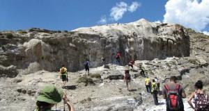 Estudiantes de Geología de la UGR en una salida de campo.
