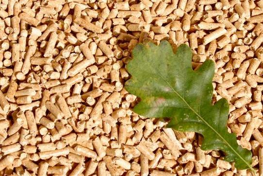 Biomasa lista para ser usada.