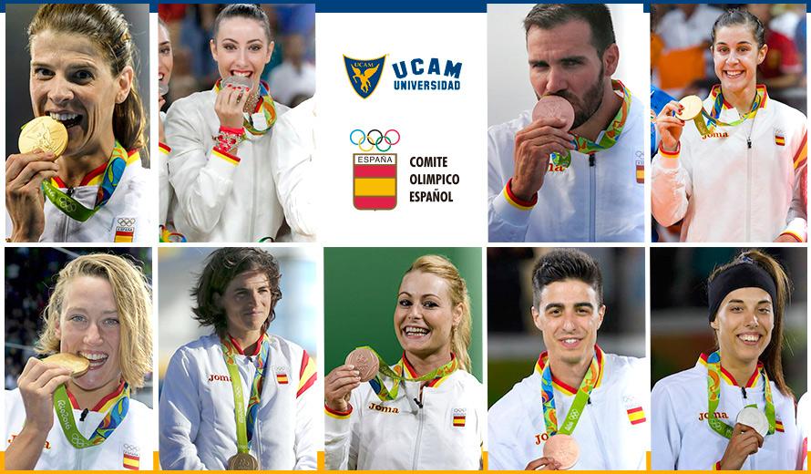 Medallistas olímpicos de la UCAM.