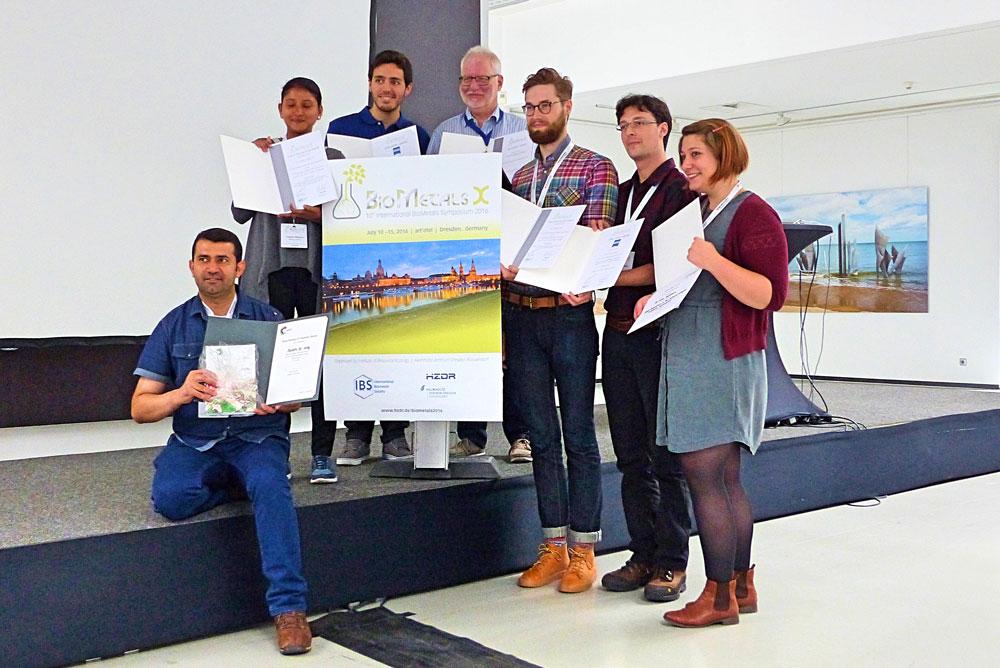 Representantes de la UGR en el congreso de biometales celebrado en Alemania.