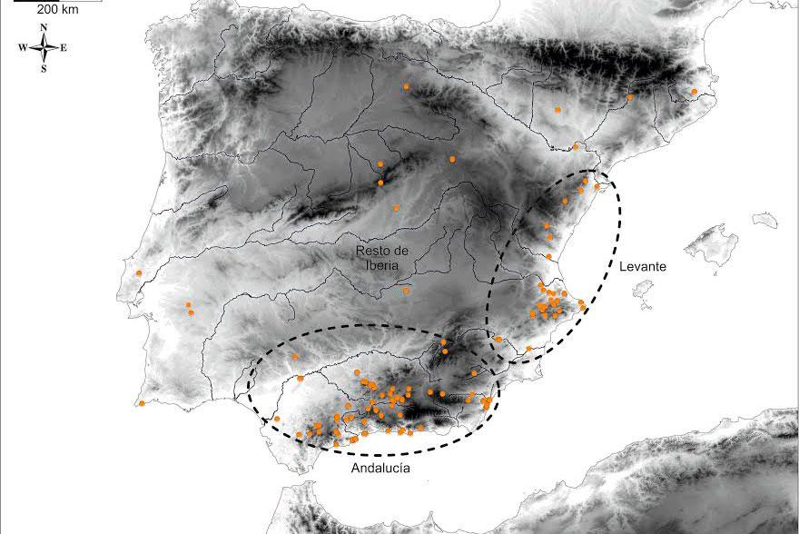 Distribución de los brazaletes en el Neolítico.