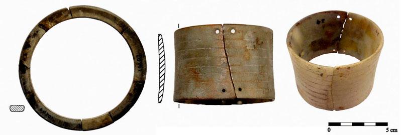 Modelos de brazaletes utilizados en el Neolítico.