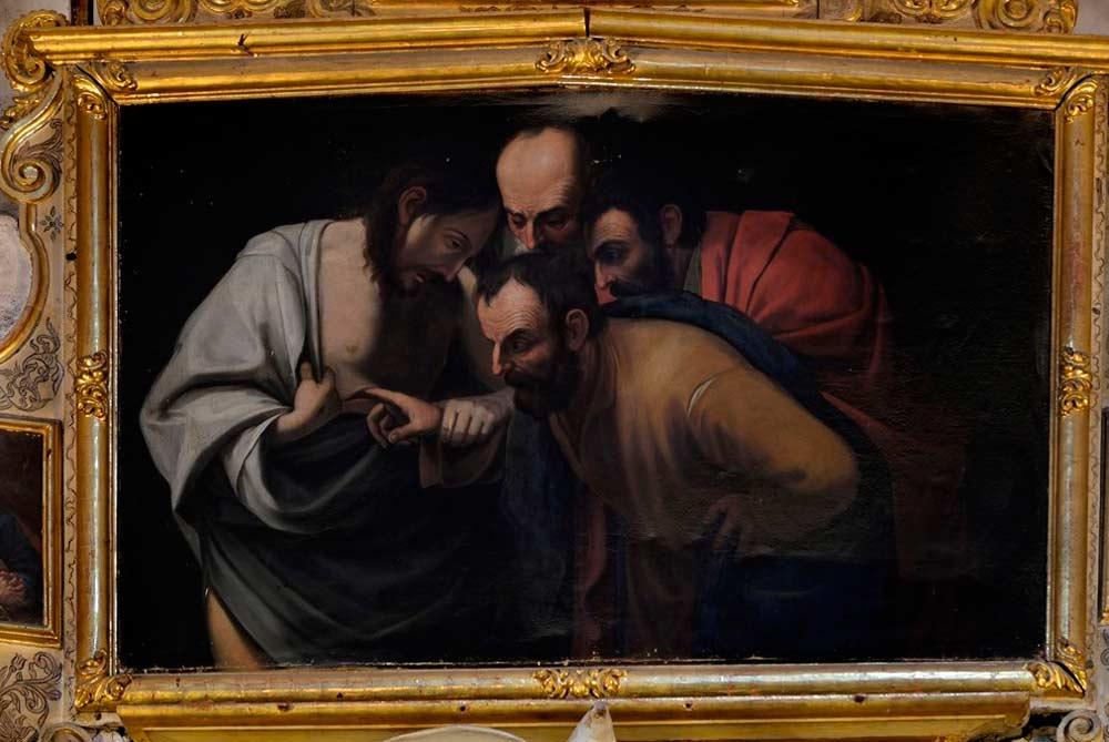 Copia de una obra de Caravaggio que puede verse en la iglesia San Justo y Pastor de Granada.
