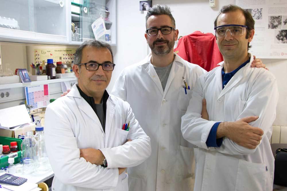 José Antonio Gavira, Luis Álvarez y Juan José Díaz.