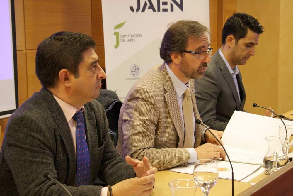 Presidente de la Diputación de Jaén, rector de la UJA y responsable de Blaveo.