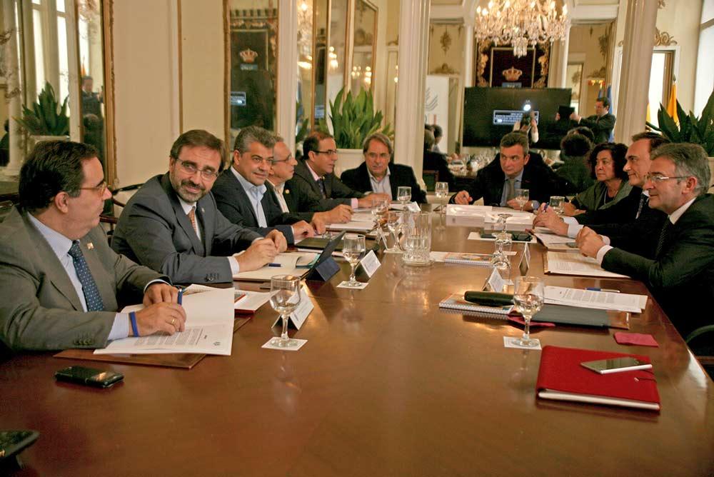 Reunión de los rectores andaluces.