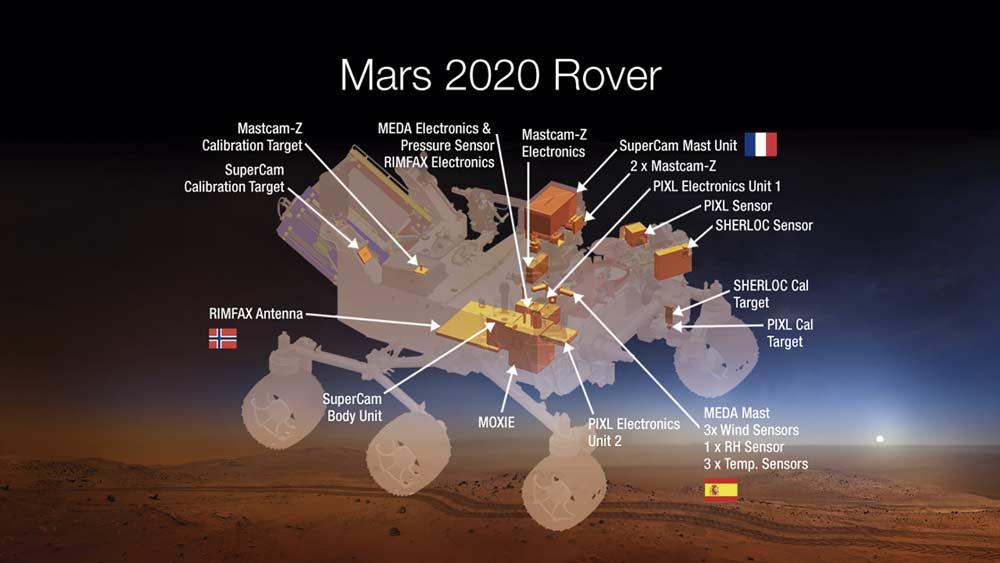 Rover que la NASA enviará a Marte en 2020.