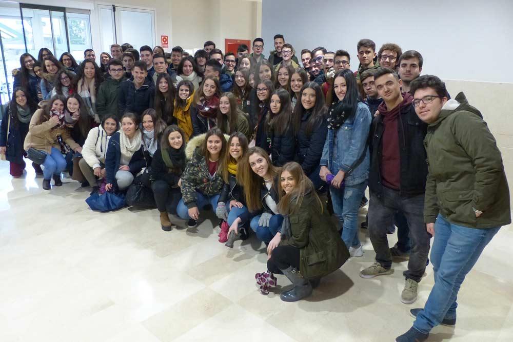 Alumnos de Baeza participantes en los Encuentros UJA.