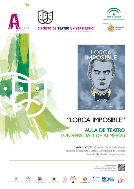 Cartel de la obra Lorca Imposible del Aula de Teatro de la UAL.