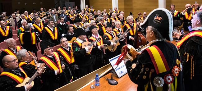 Momento del V Juntamiento de Tuna España celebrado en la Universidad de Málaga.