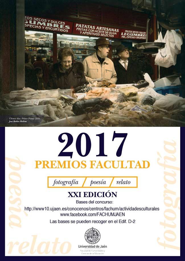 Cartel del concurso Facultad de fotografía, relato y poesía.