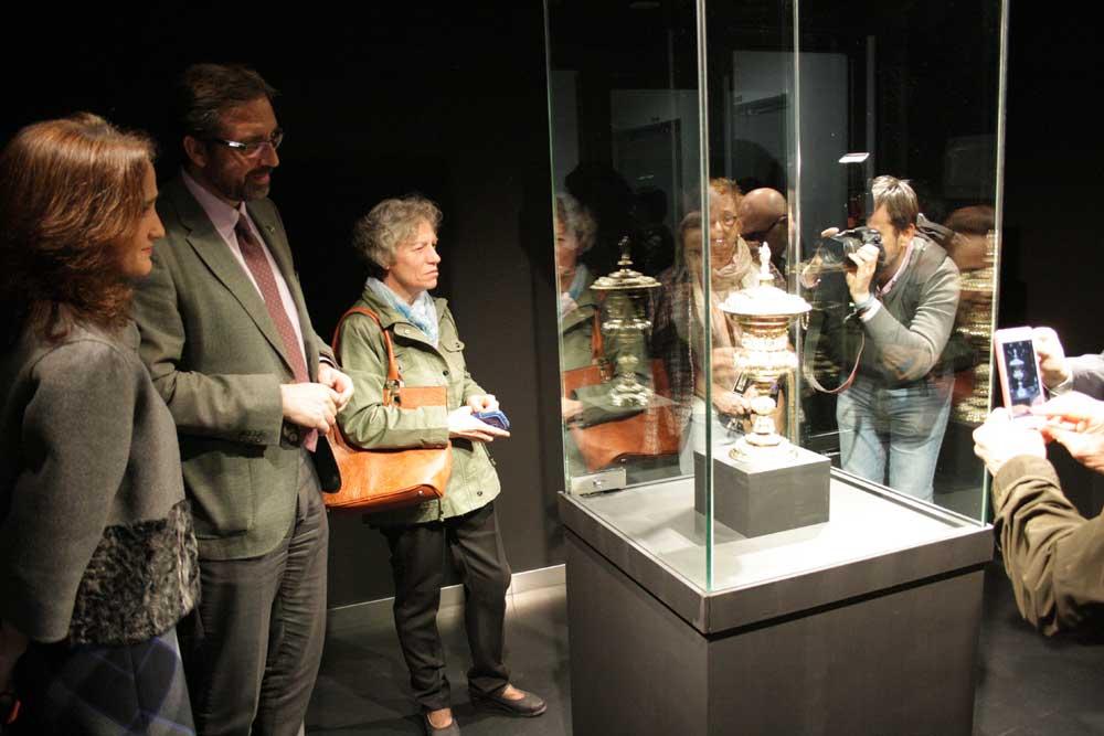 La Copa Nuremberg se puede ver en la Antigua Escuela de Magisterio de la UJA.