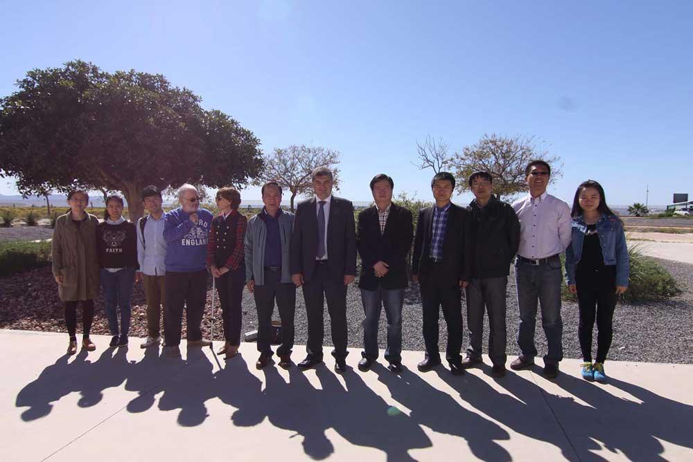 Delegación china en la UAL.