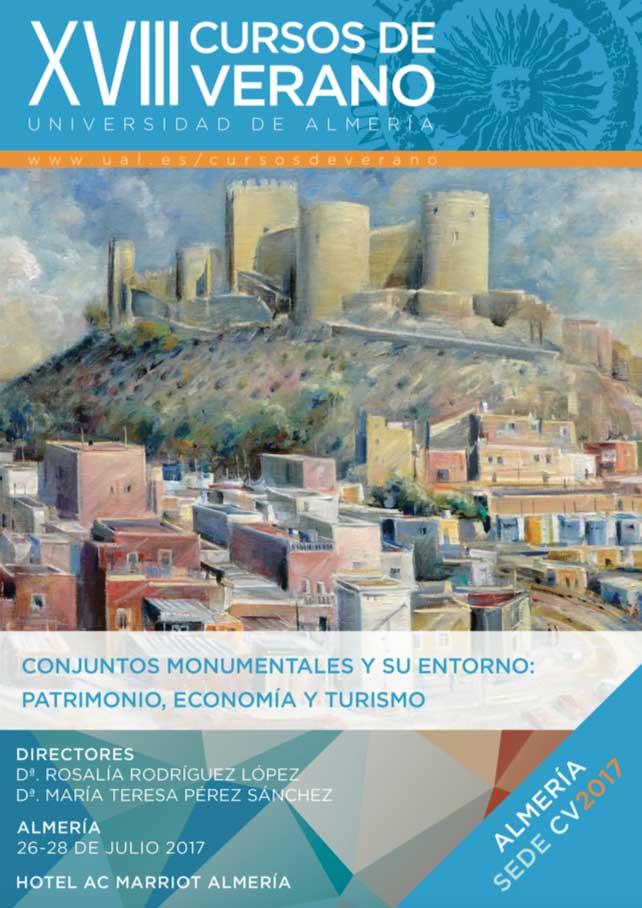 Cartel del Curso de Verano sobre Patrimonio, Economía y Turismo.