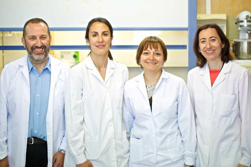 Integrantes del grupo de investigación Nanobiopol de la Universidad de Alicante.