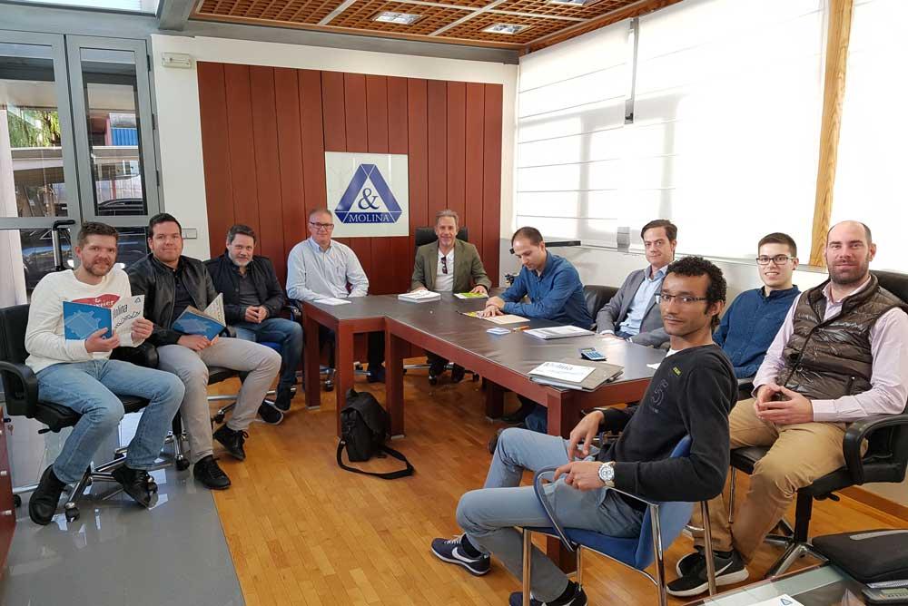 Reunión de los responsables de la futura planta de biodiesel en Murcia.