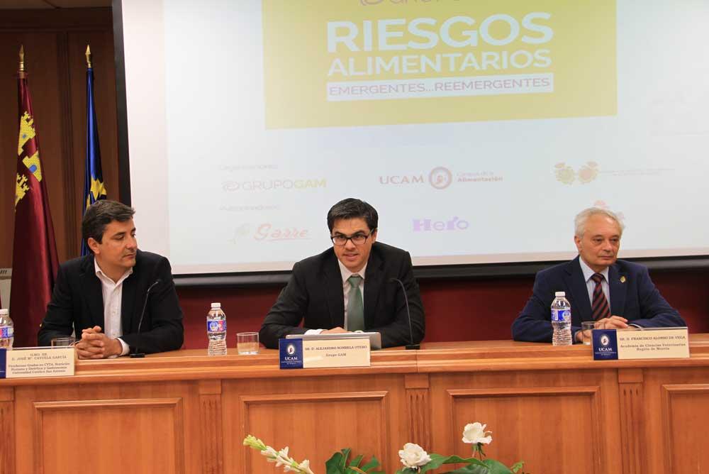 Congreso sobre riesgo alimentario en la UCAM.