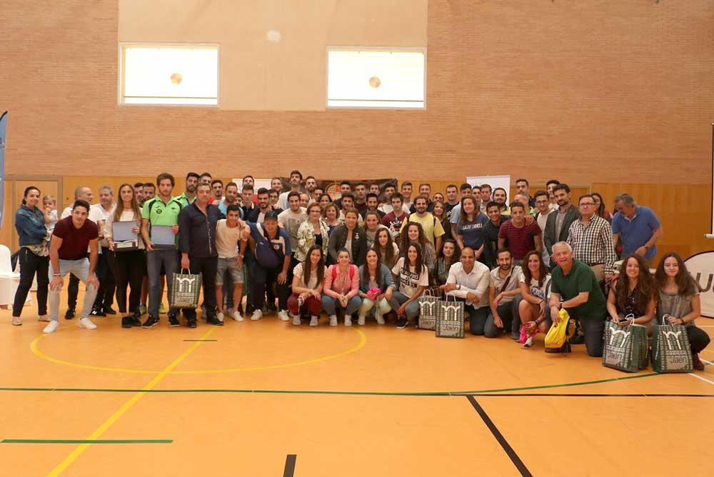 Deportistas distinguidos por la Universidad de Jaén.