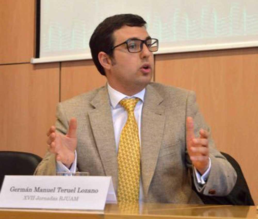El profesor de la UMU, Germán Manuel Teruel Lozano.