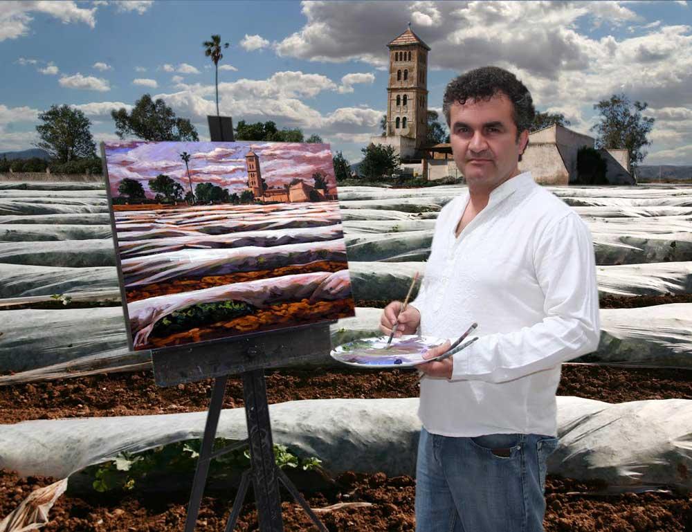 El artista Javier Lorente.