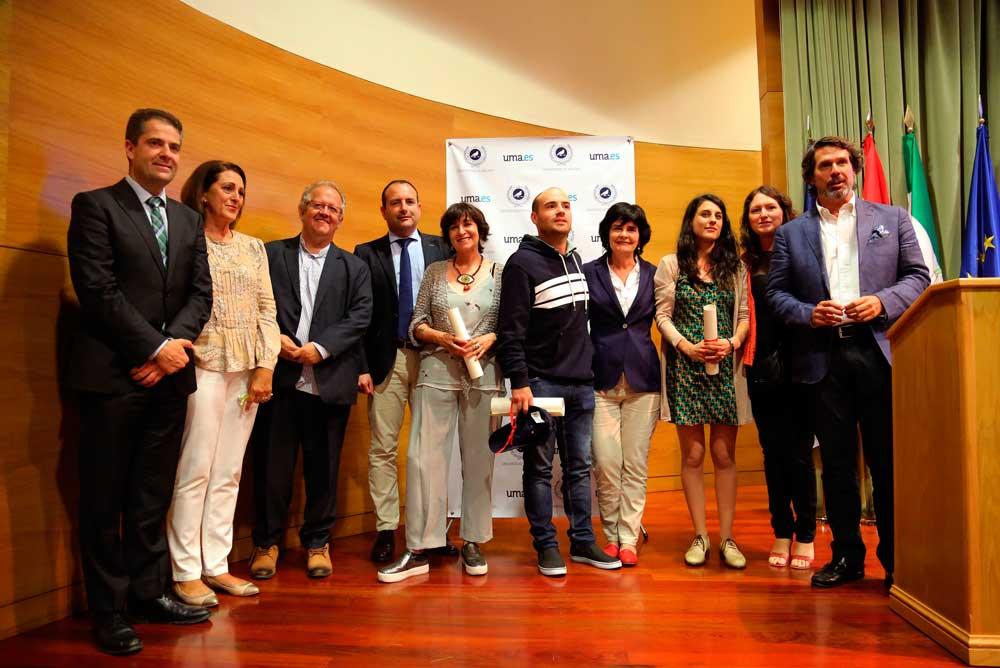Galardonados en el Premio de Periodismo de la UMA.