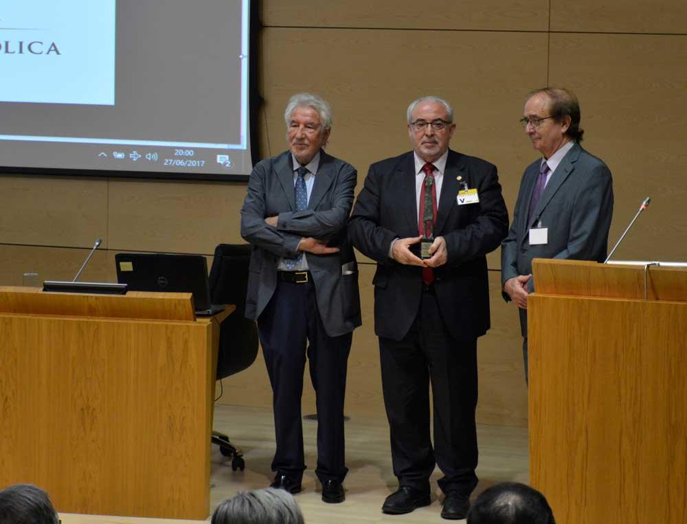 Recogiendo el premio Ciudadanos Europeos.