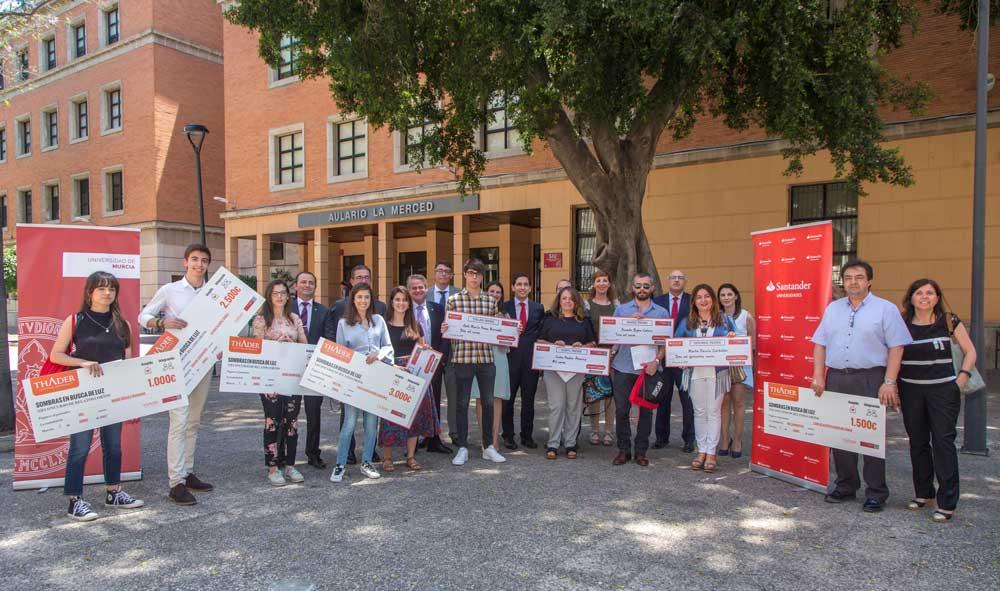 Entrega de los premios de movilidad de la Universidad de Murcia.
