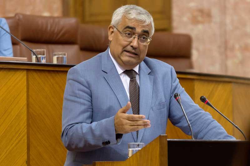 Antonio Ramírez de Arellano, durante su interpelación en el Parlamento.