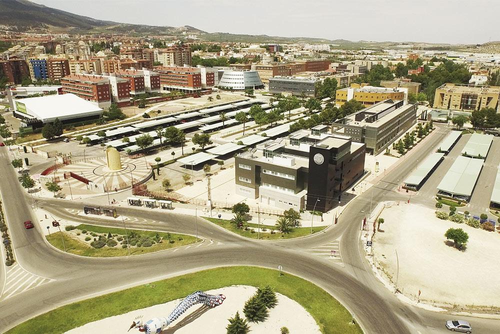 Vista aérea del campus de la Universidad de Jaén.