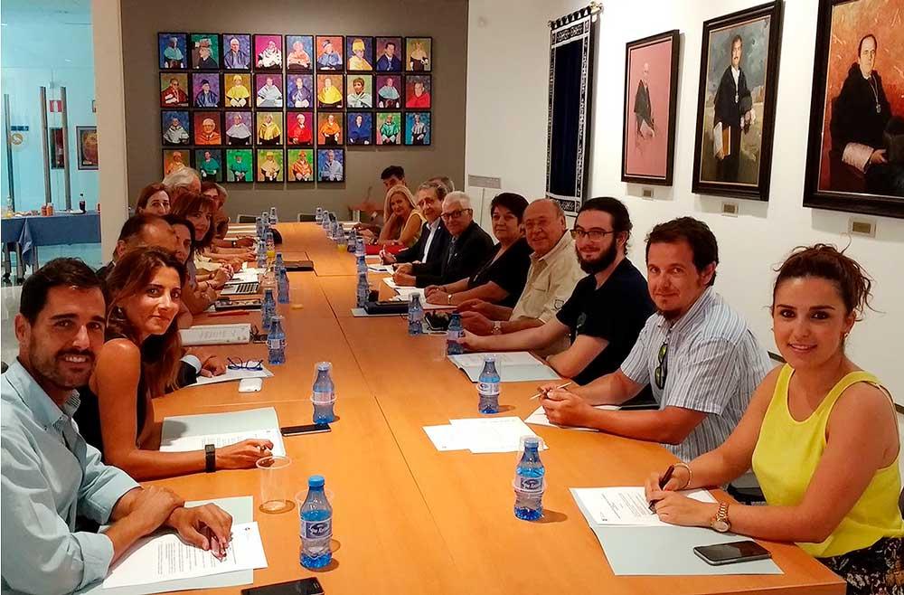 Reunión del Consejo Social de la Universidad de Málaga.