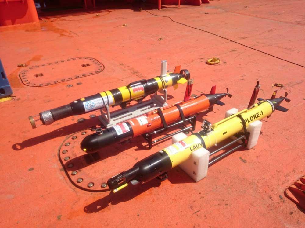 Drones utilizados durante las maniobras realizadas, en 2015, en Cartagena.