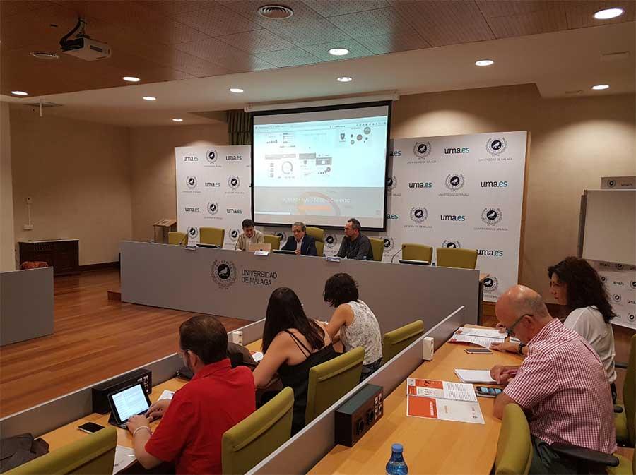 Presentación de los datos de empleabilidad de la Universidad de Málaga.