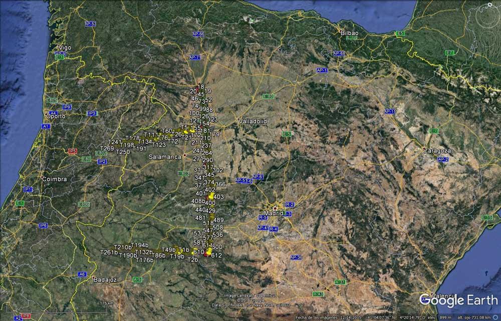 Mapa que incluye la línea del perfil sísmico previsto.