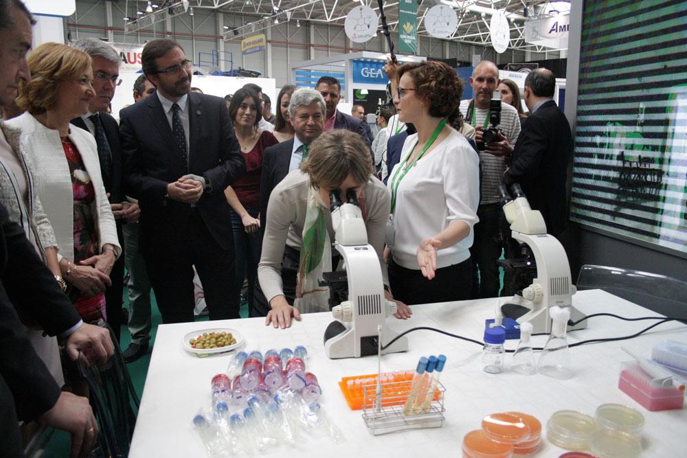 La Universidad de Jaén mostró su investigación en Expoliva.
