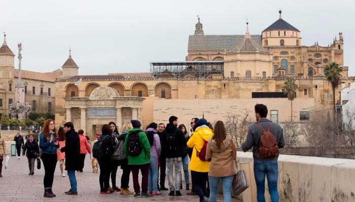 Los alumnos del Máster en Ciencia y Tecnología del Patrimonio Arquitectónico, en Córdoba.
