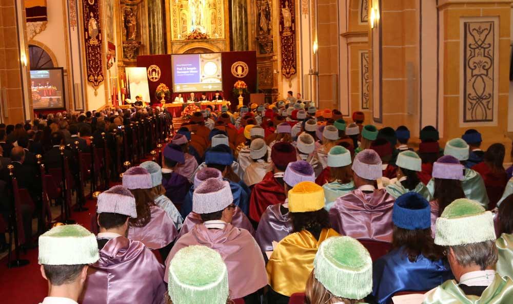 Acto de la Universidad Católica de Murcia.