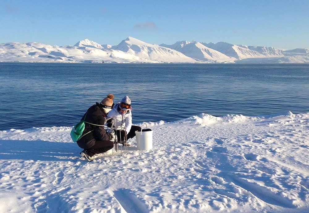 Expedición anterior en el Ártico.