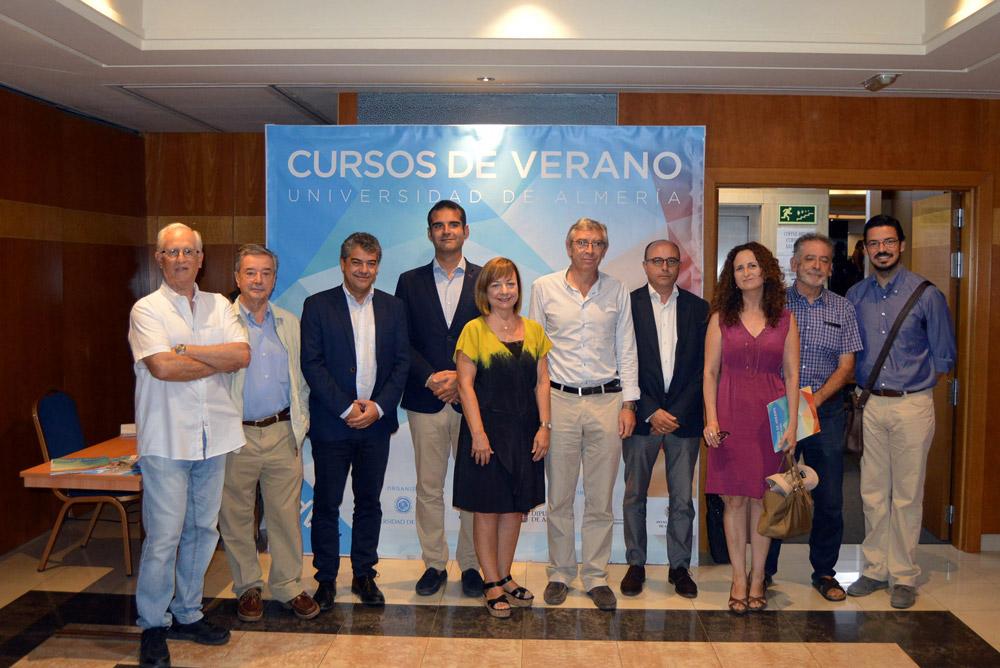 Responsables y participantes en el Curso de Verano de la UAL dedicado al patrimonio.