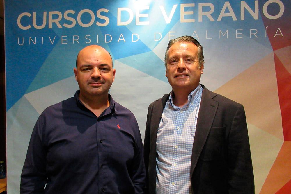 José Luis Ruiz y Carlos Ruiz, director y ponente en el curso de verano de la UAL sobre turismo y tecnología.