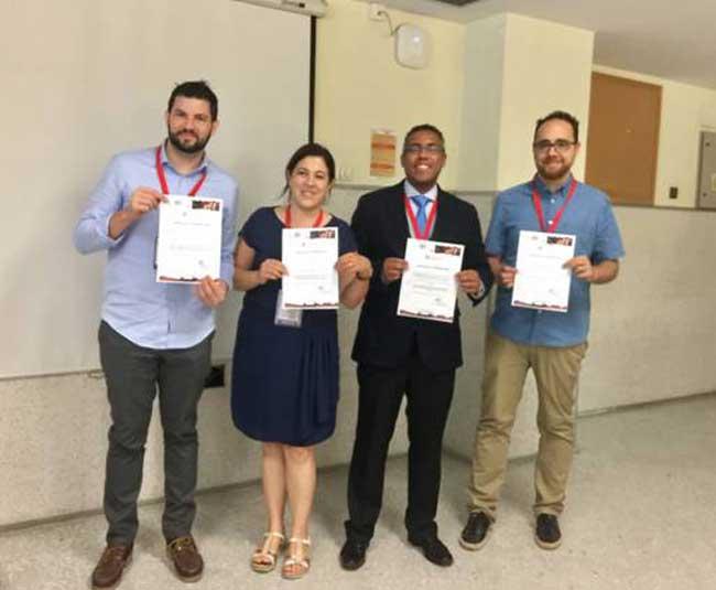 Investigadores de la UGR con su reconocimiento.