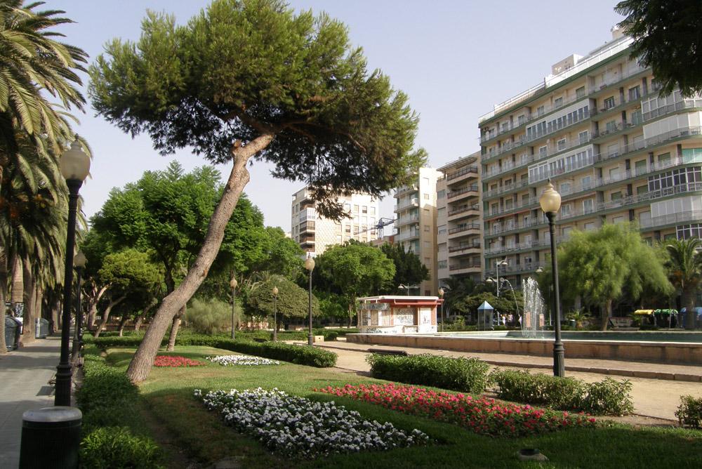 Parque Nicolás Salmerón, en Almería.