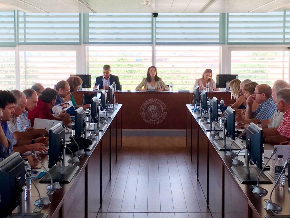 Magdalena Cantero ha presidido la reunión del Consejo Social de la UAL.